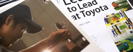 An example of Toyota's training materials from a Lean Study Mission to Japan